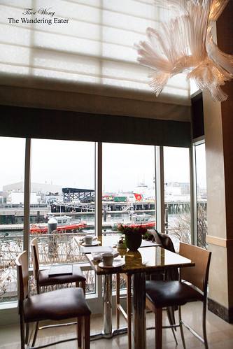Our table looking out to the wharf