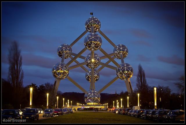 20131223 Atomium au crépuscule, Bruxelles