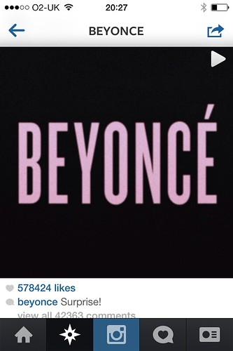 Beyonce album launch Instagram