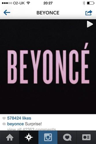 Beyonce album launch Instagram