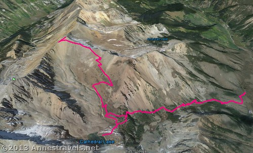 Visual map of the Electric Pass Trail, White River National Forest, Colorado