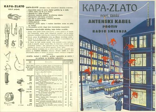 Croatia. Zagreb. Year  ~ 1937. Brochure: KAPA-ZLATO novi, tanki Antenski kabel protiv radio smetnja 2075 PR