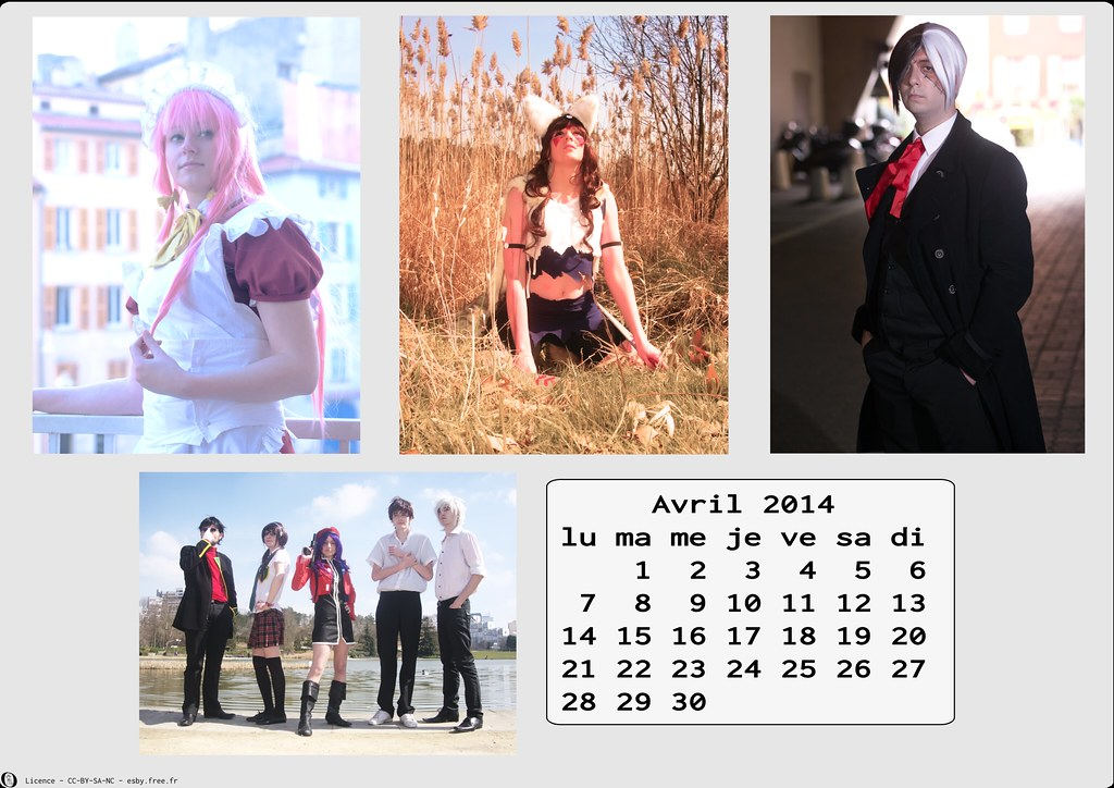 related image - Calendrier Cosplay 2014-04 - Avril