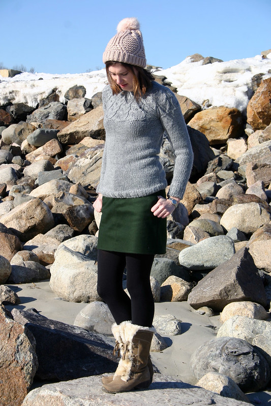 owl sweater moss skirt5