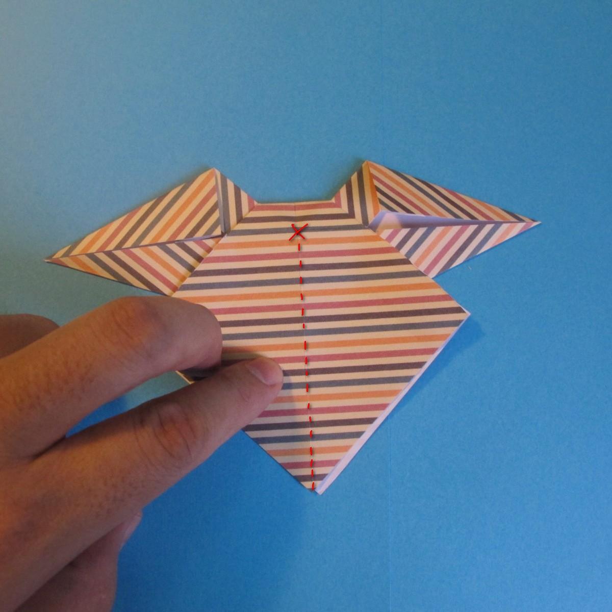 วิธีการพับกระดาษเป็นโบว์หูกระต่าย 021