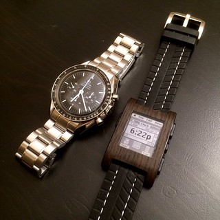 Omega Speedmaster Professional and Pebble Smart Watch
