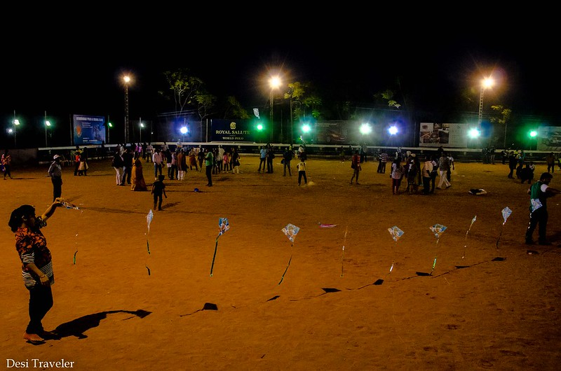 Kite flying in night