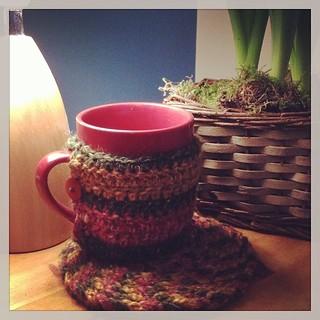 Mug hug. #crochet