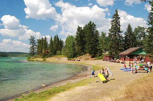 Picnic Site at Lac La Hache Provincial Park, Lac La Hache, Hwy 97, Cariboo, British Columbia, Canada