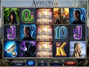 Avalon 2 - Quest for the Grail Slot Machine
