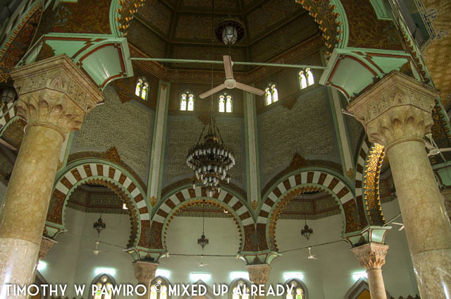 Asia - Indonesia - Medan - Grand mosque of Al-Mashun - Beautiful design inside the mosque