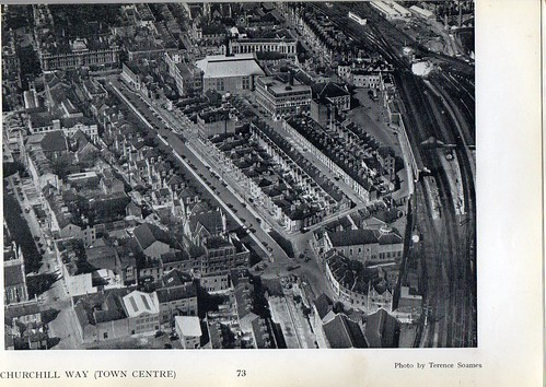 1952 Aerial view Cardiff