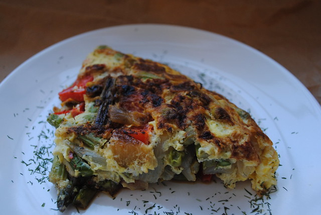 Spring VegetableAsparagus and Caramelized Onion Fritatta Fritatta