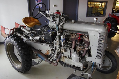 Homemade Indian motorcycle tractor
