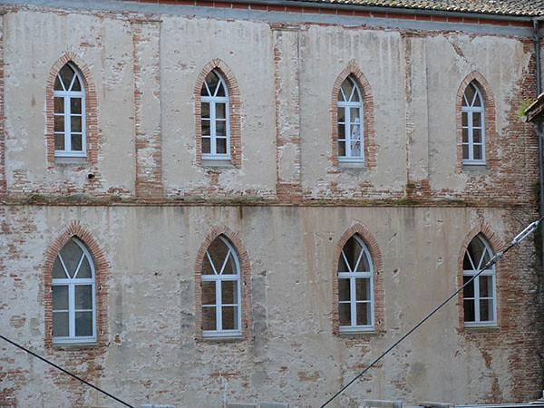 fenêtres de l'abbaye