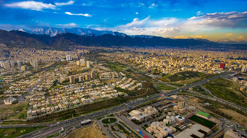 mountain tochal tehran milad tower burjemilad sunset