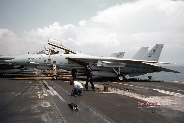 US Navy 161432 AA-107 Grumman F-14A Tomcat CV-60 06-1992