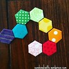 I can't get enough of these mini hexagons! #epp #hexagonquilt