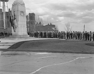 Vimy Day at the Edmonton War Memorial, 9 April 1938