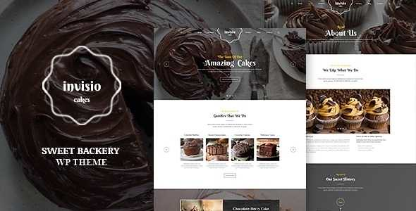 Invisio Cakes WordPress Theme free download