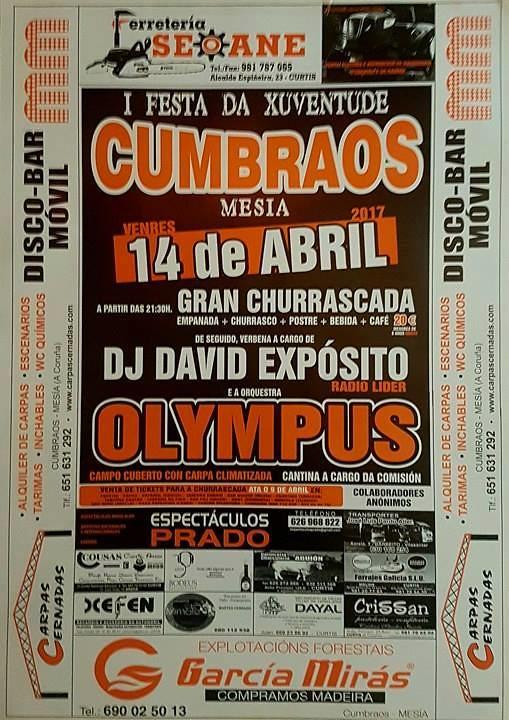 Mesía 2017 - I Festa da Xuventude en Cumbraos - cartel