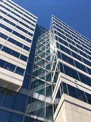 Exterior detail in the sun, HQ2, International Monetary Fund, Washington, D.C.