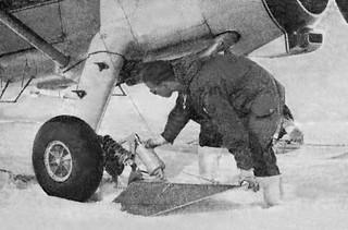 1959 SL Pete Tremayne preflight checking Beaver NZ6010