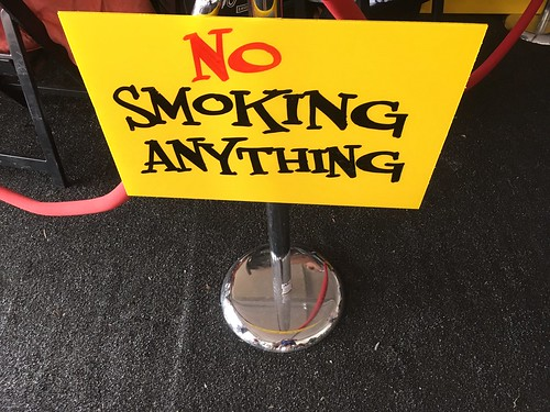No Smoking Anything in the WWOZ Hospitality Tent