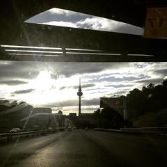 #madrid vacío #madridmemola #piruli Saliendo del #tunel #silueta #contraluz