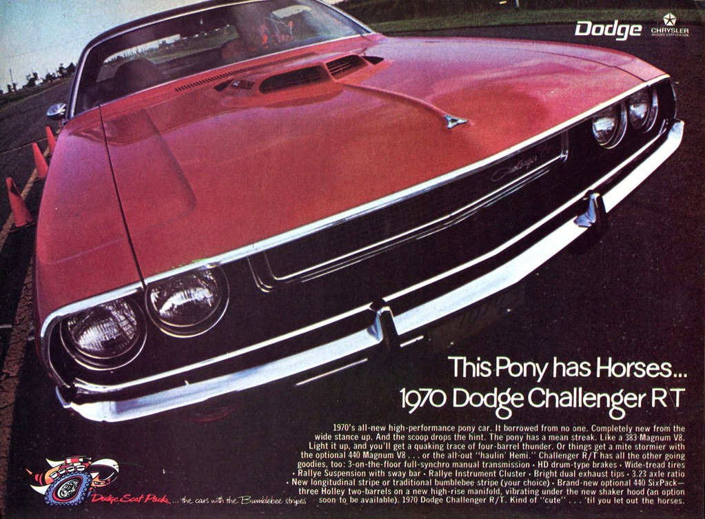 1970 Dodge Challenger RT Advertising Hot Rod Magazine November 1969