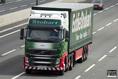 Volvo FH 6x2 Tractor - PX11 BWP - Tracy - Eddie Stobart - M1 J10 Luton - Steven Gray - IMG_9089