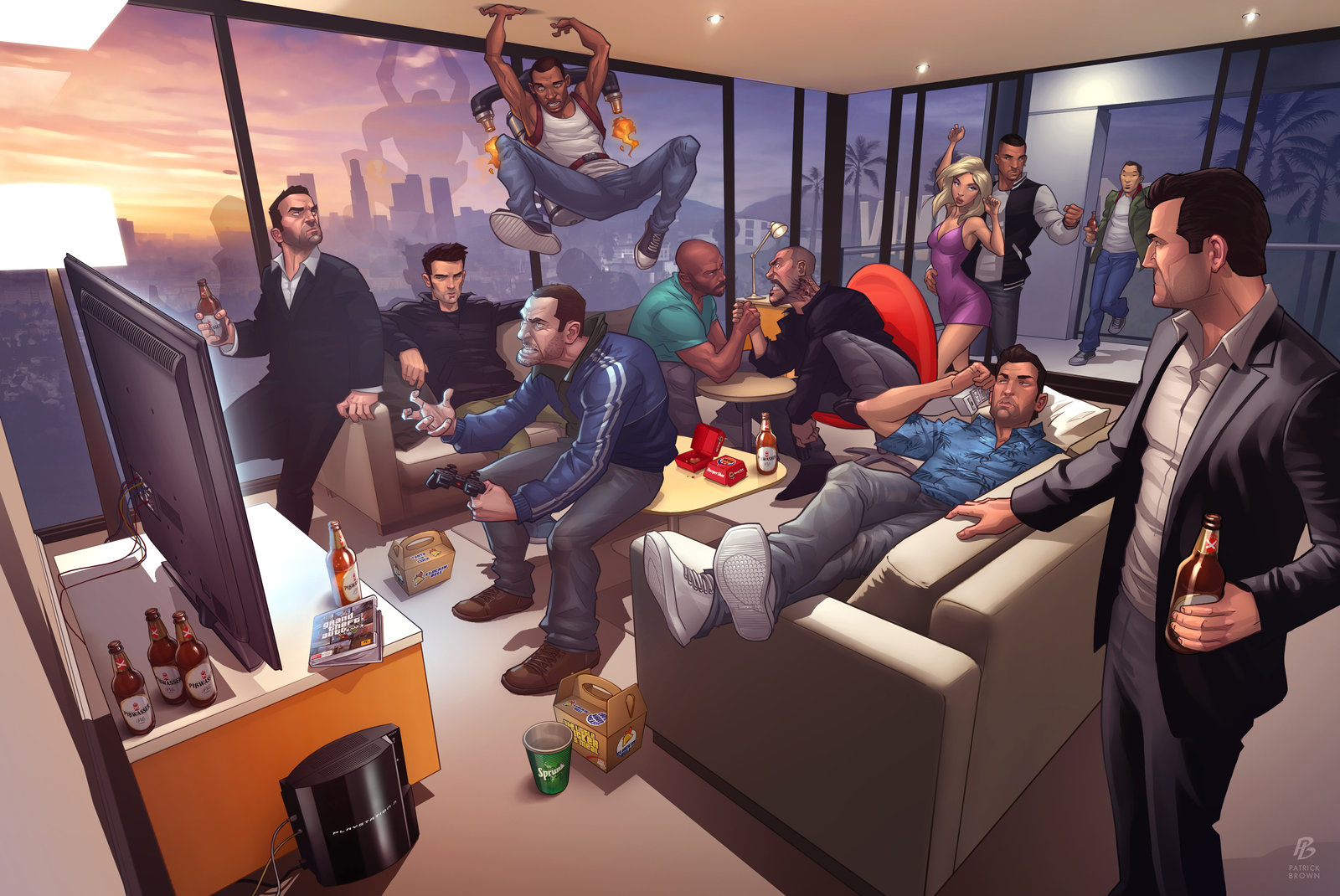 'Grand Theft Auto Legends 2012' - Patrick Brown