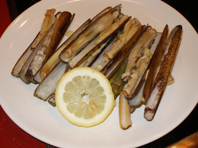 receta de navajas a la plancha