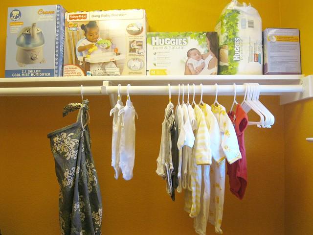 shelf and tiny clothes