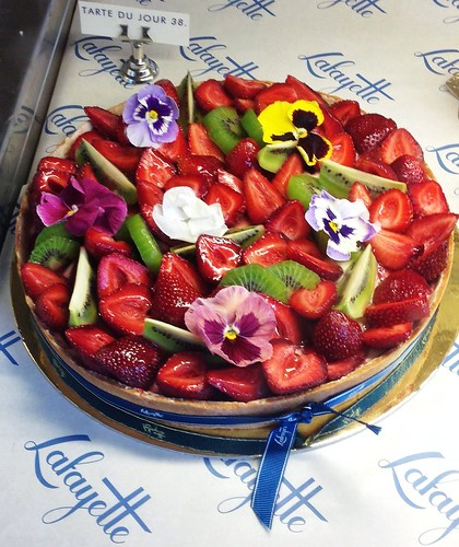 Gorgeous large fruit tart