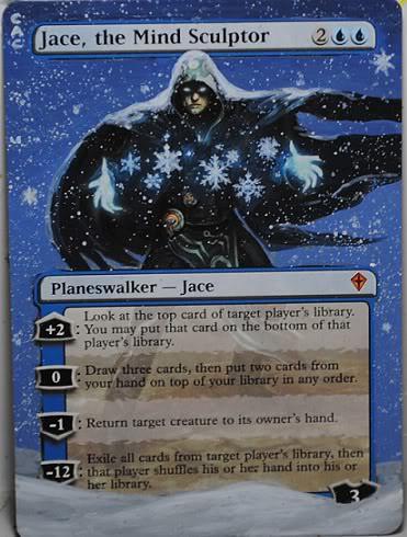 Jace the Mindsculptor Altered Art Magic the Gathering MTG Card Art Altered Artwork Sandreline Jason Chan Illustration