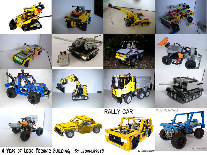 A year of Lego Technic building