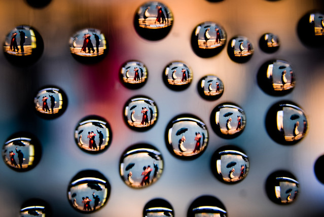 Dancing in the Rain Inside a Drop of Water