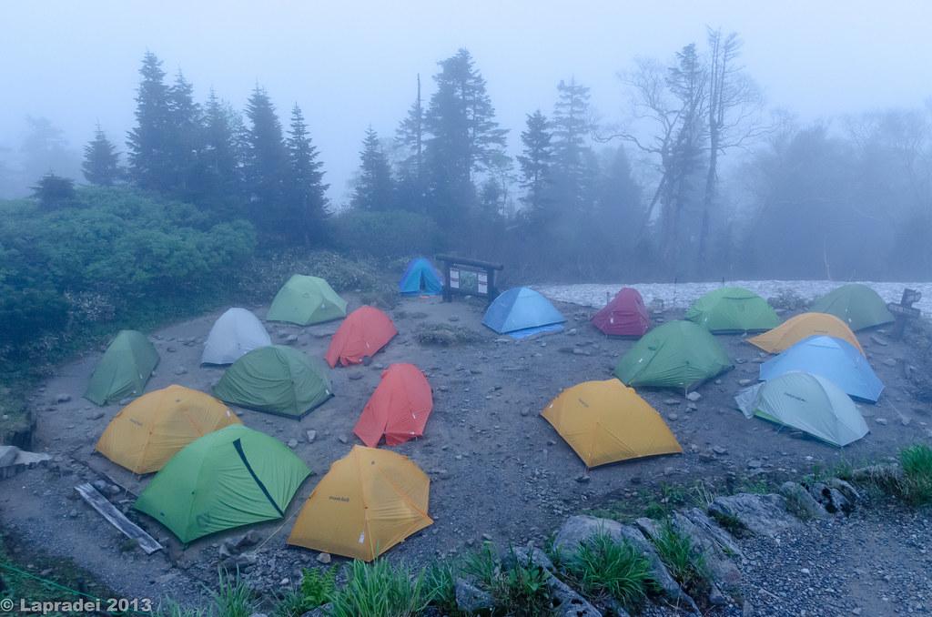 20130622 西穂山荘のテントサイト