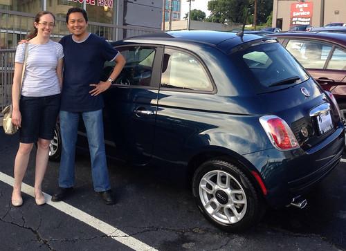 At the Fiat 500 dealer