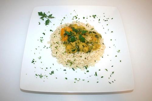34 - Hähnchen-Pfirsich-Curry / Chicken peach curry - Serviert