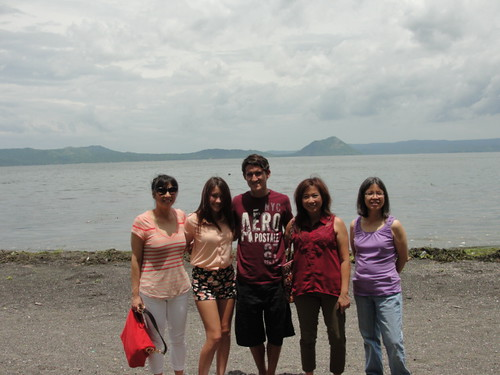 posing in front of taal