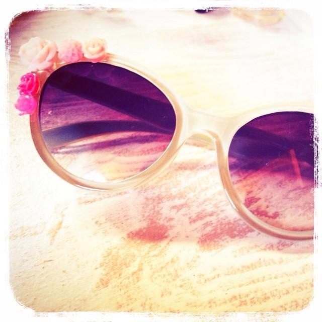 Gafas sol flores retro