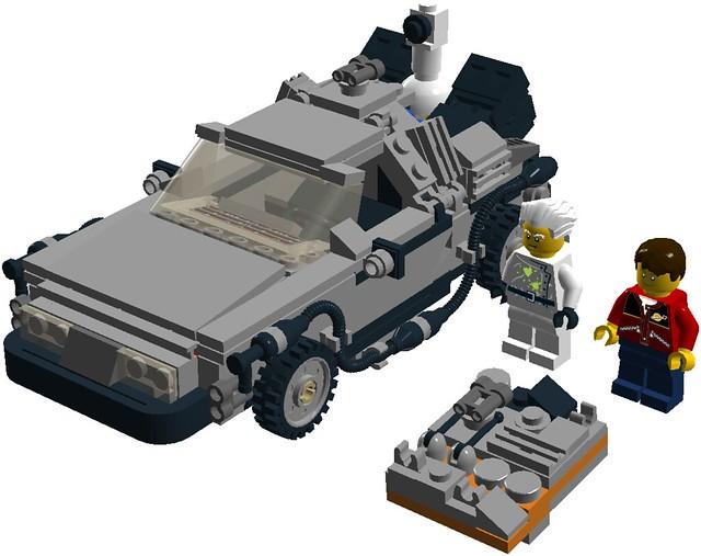 Ldd Mod Back To The Future Delorean Lego Licensed