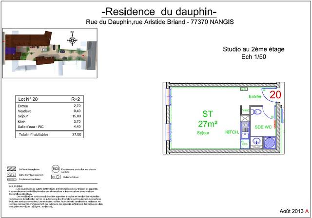 Résidence du Dauphin - Plan de vente - Lot n°20