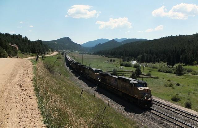 trein door dal