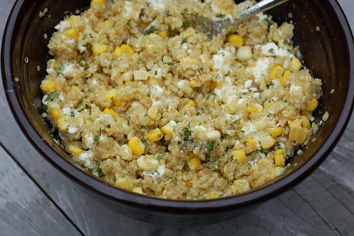 Quinoa, corn & feta salad by Eve Fox, The Garden of Eating blog, copyright 2013