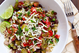 Chicken Burrito Bowls with Hatch Chile Pico de Gallo