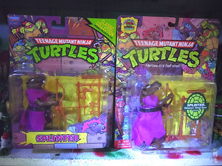TEENAGE MUTANT NINJA TURTLES - CLASSIC COLLECTION :: 'RETRO' SPLINTER v // .. with TMNT 25 Splinter reissue on card (( 2013 ))
