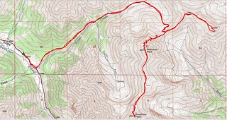 Redcloud, Sunshine, Pt 13,832 Topo Map